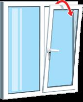 Поворотно откидная часть окна - проветривание